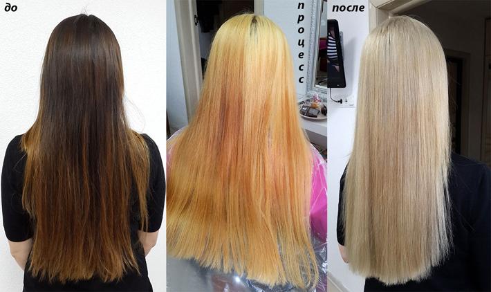 Как убрать желтизну с волос после мелирования на темные волосы