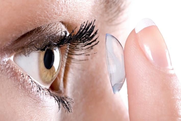 Линзы контактные