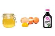 Мед, яйцо, репейное масло