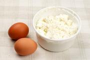 Яйцо и творог