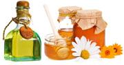 Мед и репейное масло