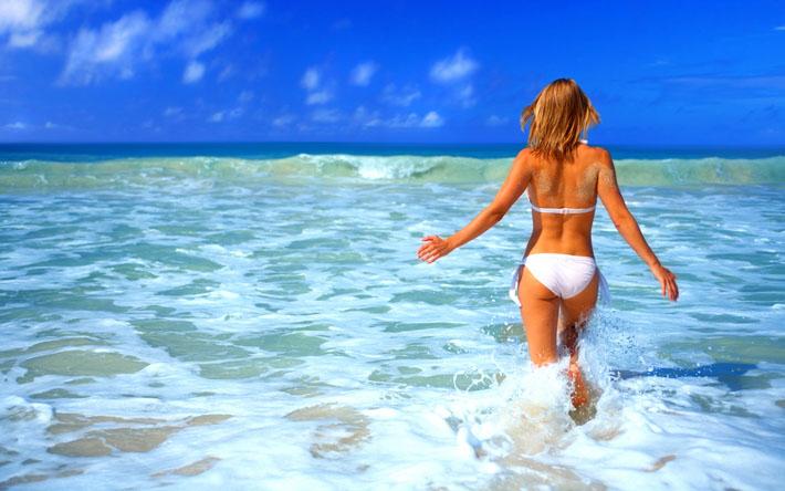 Нахождение на пляже
